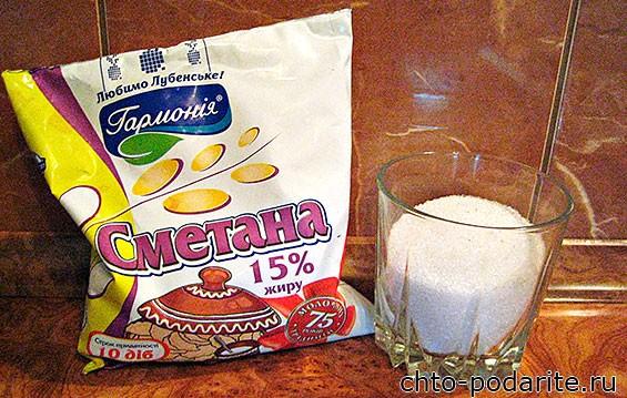 Ингредиенты для крема торта Сметанник