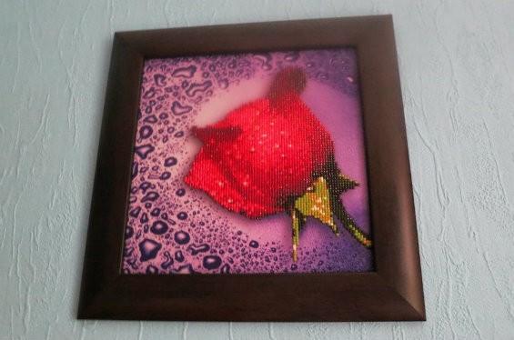 Алмазная вышивка роза