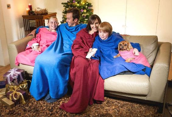 """Плед-одеяло с рукавами """"Уютная зима"""""""