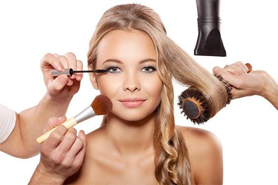 укладка макияж