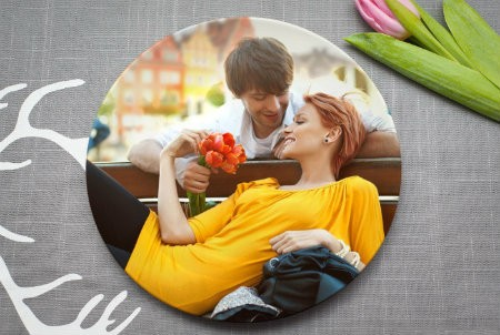 """Тарелка с фотографией """"Счастливый момент"""""""