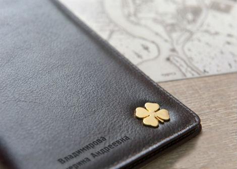 """Бумажник для документов """"Счастливый клевер"""""""