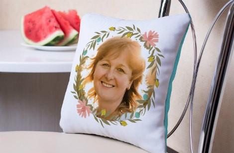 """Подушка с фото """"Цветочное настроение"""""""