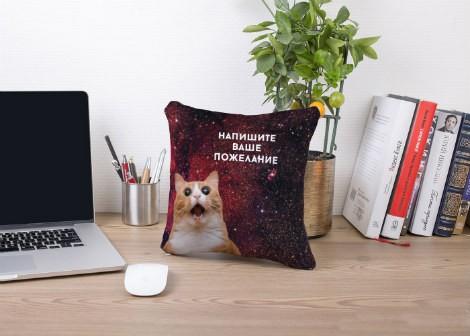 "Подушка с фото ""Космический кот"""