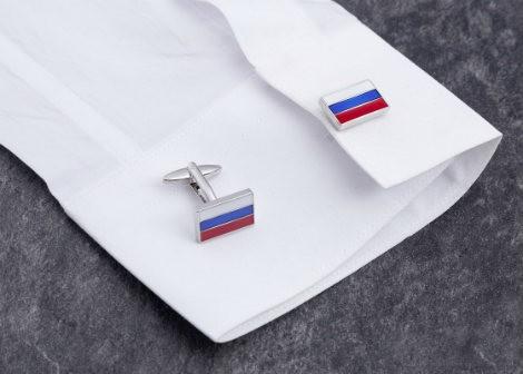 """Запонки """"Российский флаг"""""""