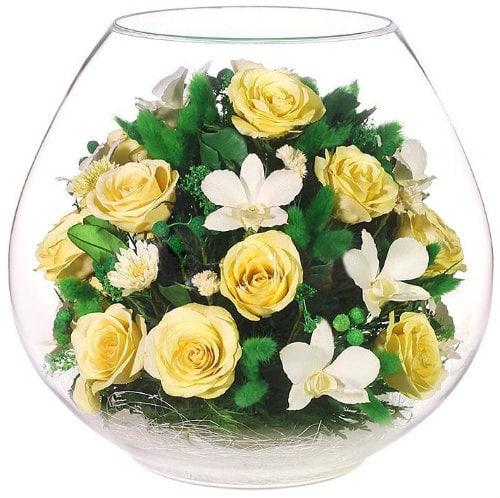 Цветы в стекле