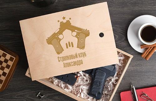 Пистолет из шоколада Стрелковый клуб