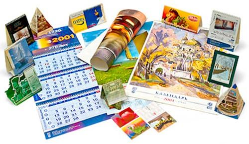 разные виды календарей