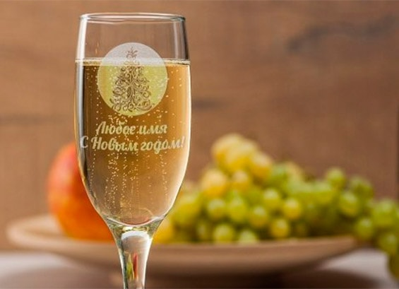новогодние бокалы для шампанского