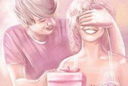 Парень дарит подарок любимой на день святого Валентина