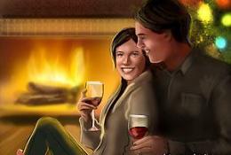 Жна с мужем в канун Нового года