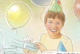 Десятилетний мальчик в День рождения