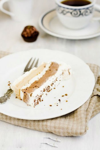 легкий шоколадно-кофейный торт