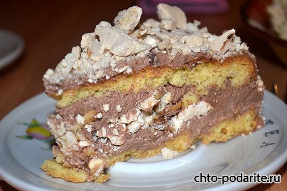 десерт с готовым безе рецепт