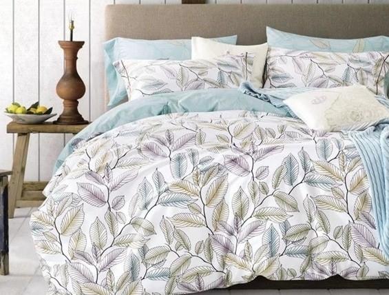 постельное белье неяркое с абстрактным рисунком