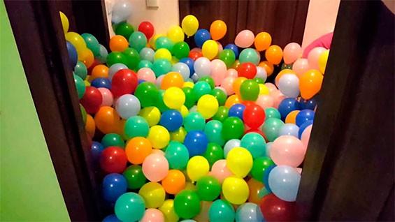 полная квартира шаров