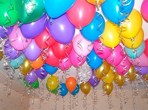 цветные шары на день рождения