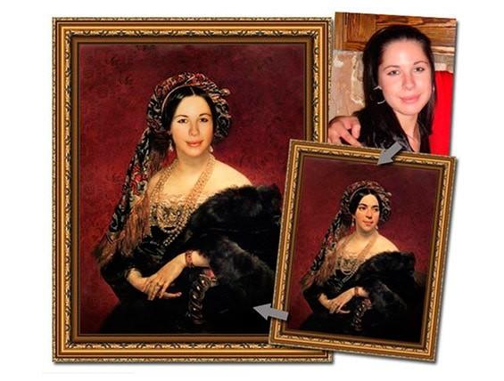 портрет по фотографии в старинном стиле