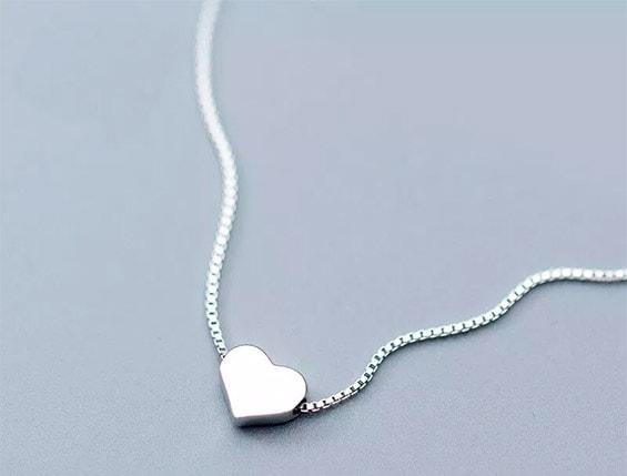 кулон сердечко в подарок на день влюбленных