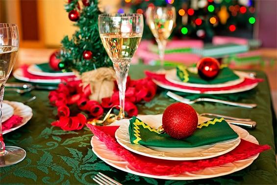 украшения стола на новый год