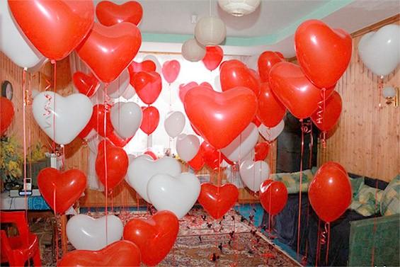 украсить комнату на день влюбленных