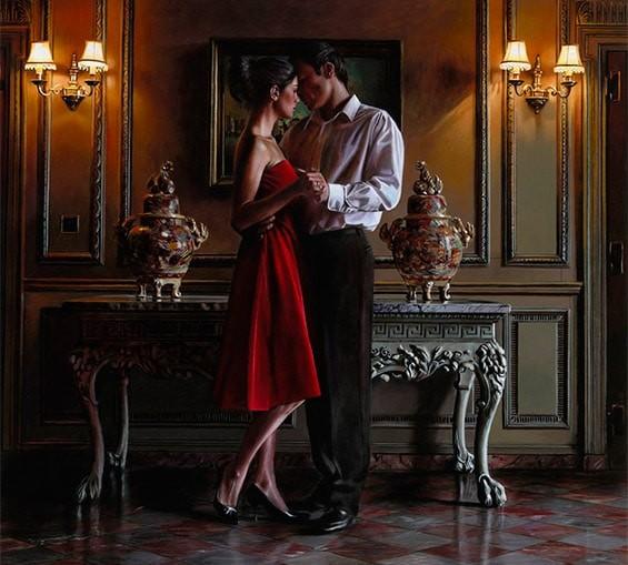 романтический танец на новый год