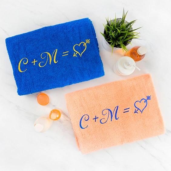 полотенца с инициалами