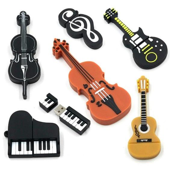 Флешки в виде музыкальных инструментов