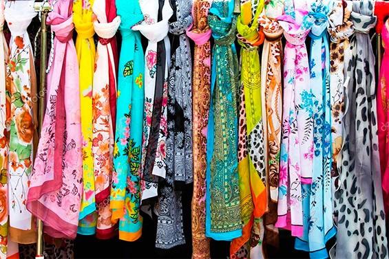 Изящные шелковые шарфики