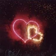 Фейерверк в форме сердца