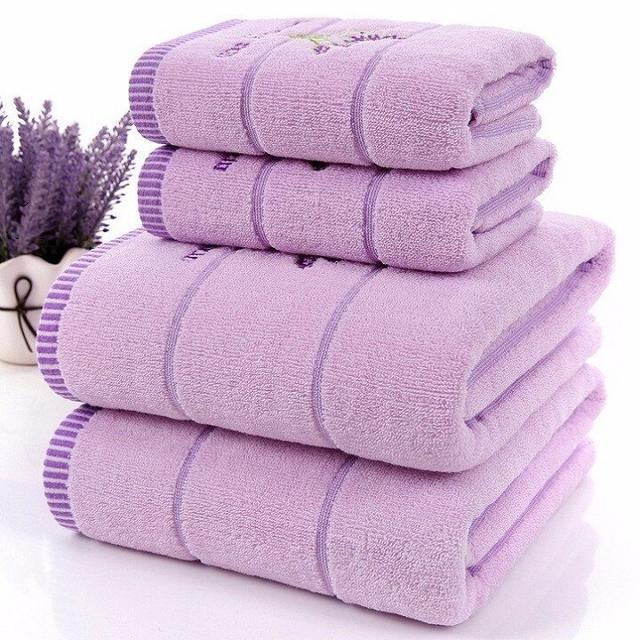 фиолетовые полотенца