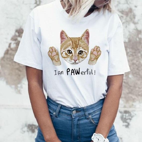 Прикольная футболка с котом