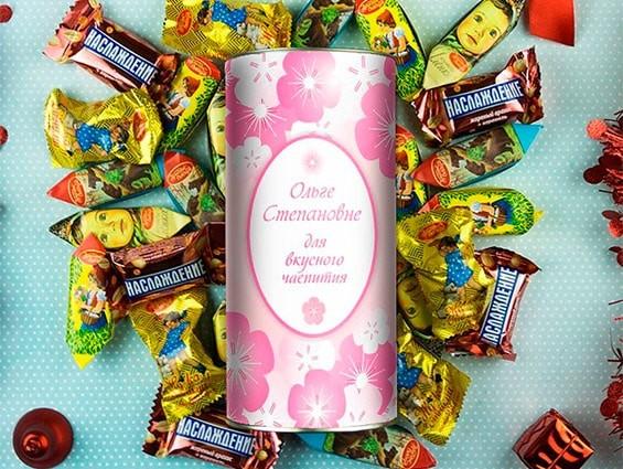 именной набор сладостей дочери