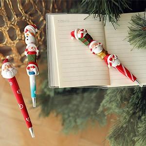 Шариковые ручки в новогоднем стиле