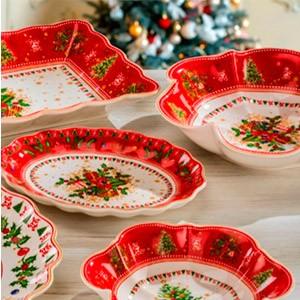 Набор новогодней посуды