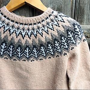 Жаккардовый шерстяной свитер