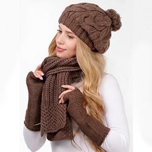 Перчатки, шапка и шарфик