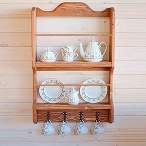 Небольшая деревянная полочка на кухню