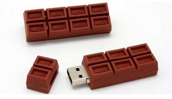 Флешка в виде шоколадки