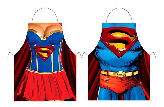фартук супервумен и супермена