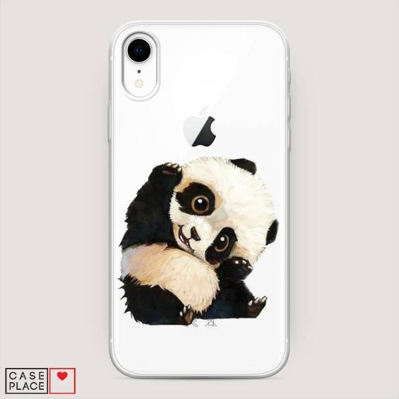 Силиконовый чехол Большеглазая панда