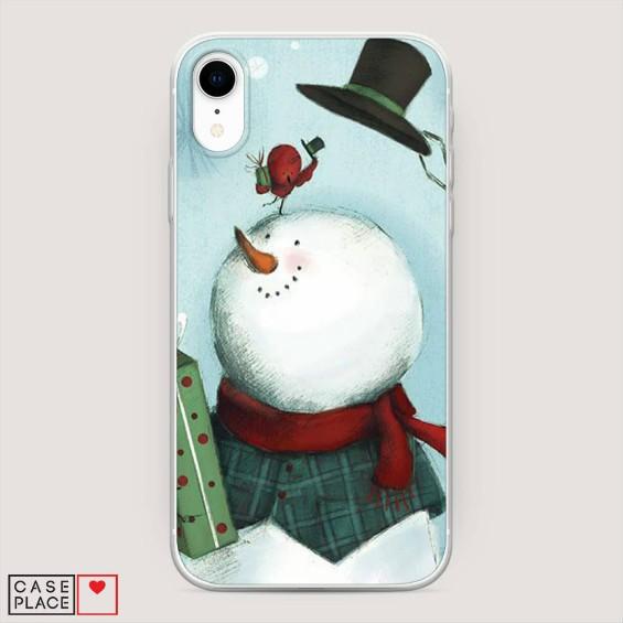 Чехол на Айфон со снеговиком