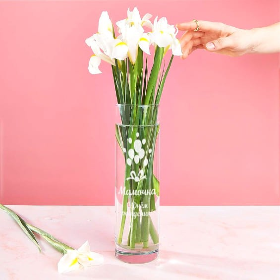 ваза с гравировкой мамочка с днем рождения