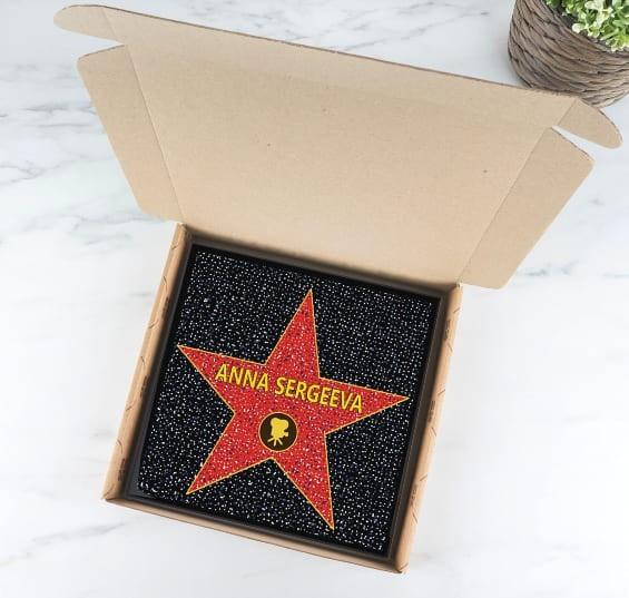 Подарочная голливудская звезда