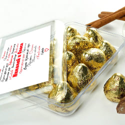 Шоколадные конфеты в именной упаковке